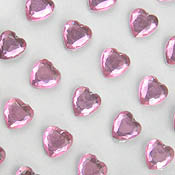 Stick On Heart Gems 8mm