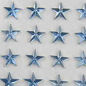 Stick On Star Gems 6mm