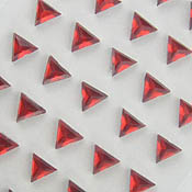 Stick On Triangle Gems 6mm