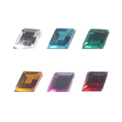 Acrylic Diamond Jewels 7X10mm
