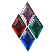 Acrylic Diamond Jewels 11X18mm