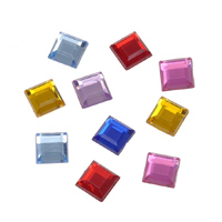 8mm Acrylic Square Jewels