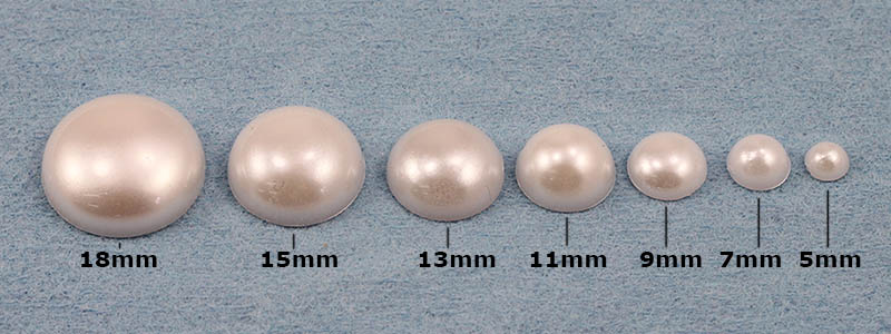 Pearl Cabochons Sizes