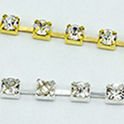 Single row rhinestone chain SS12