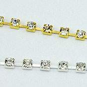 Single row rhinestone chain  SS8