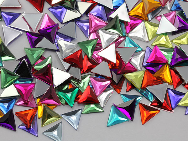 Triangle Acrylic Gems