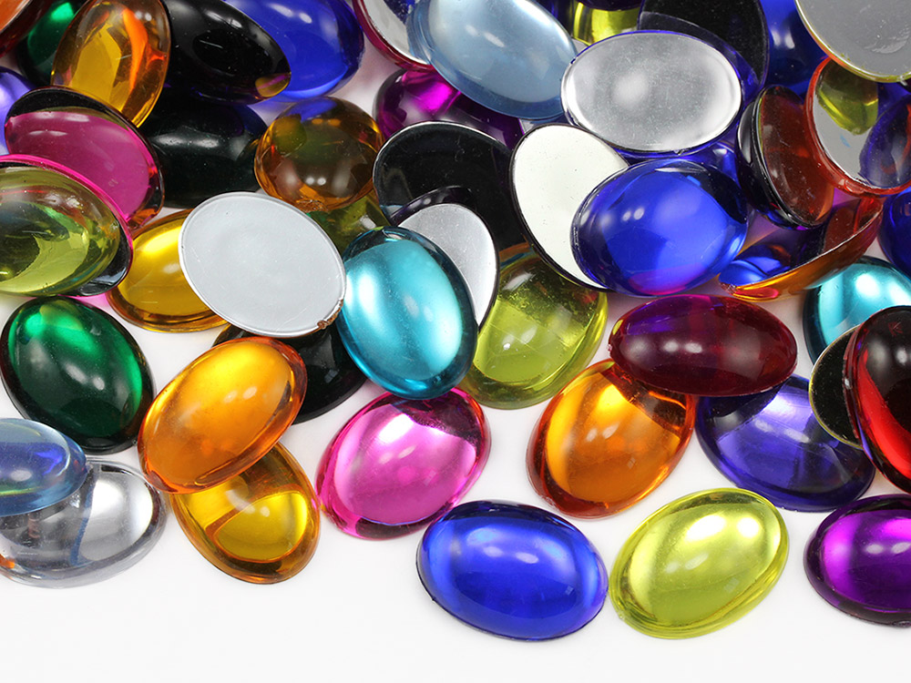 Silverback Oval Acrylic Cabochons
