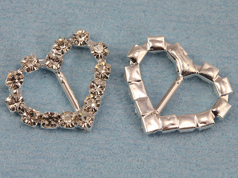 Heart Crystal Buckles for Wedding Invitations