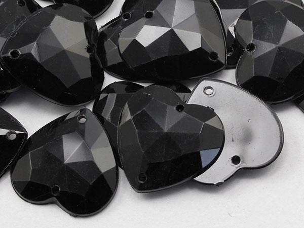 Black Sew On Gems