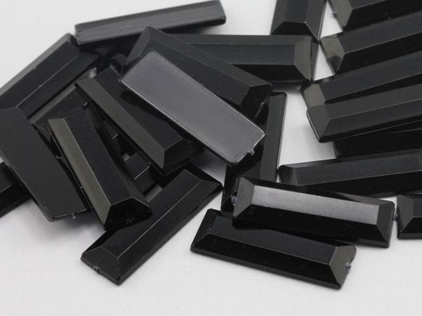 Black Rectangle Gems