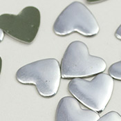 Iron on heart studs