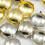 Gold Silver Pearl studs for clothing