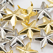 Star studs for clothing