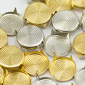 Gold & silver Target Fabric Studs