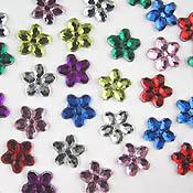 Flat Back Flower Gems