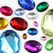 Oval Craftfting Gemstones