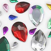 Flat Back Teardrop Gems