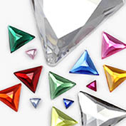 Flat Back Triangle Jewels