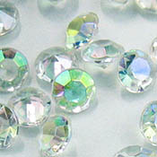 7mm AB acrylic table crystals