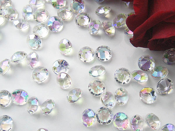 AB coated wedding table crystals